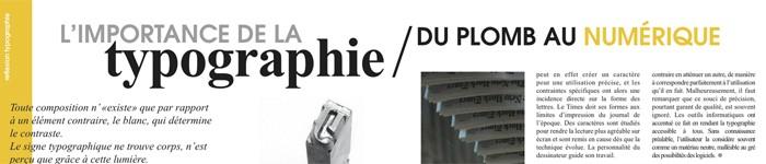 Lisibilité de la mise en page typographique