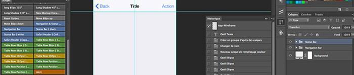 iOS 7 UI Kit pour PSD