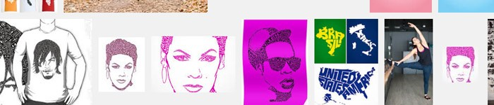 Portraits typographiques de Sean Williams