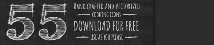 55 icônes de cuisine